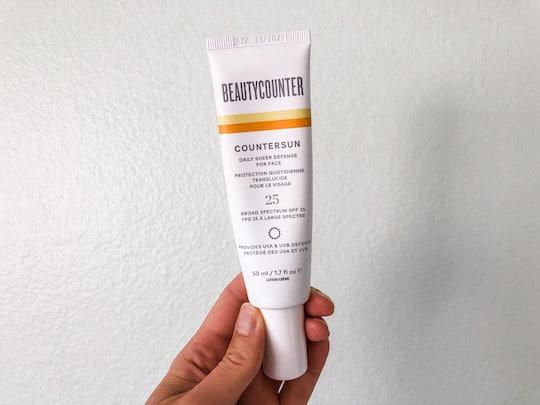 Beautycounter face sunscreen review